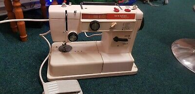 Electric singer sewing machine new home compact. needs attention