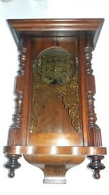 Small Antique Chiming / Musical Walnut Vienna Wall Clock, Very Rare !!