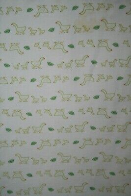 Baby GAP Ducks Leaves Green Receiving Blanket 2 Ply Cotton Swaddle Soft Geese