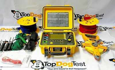 AEMC 6472 Ground Resistance Tester Model 6472 Kit-300ft with Top Dog Test Cal Ce
