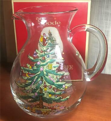 Spode Christmas Tree 96 OZ. Glass Pitcher New in Box
