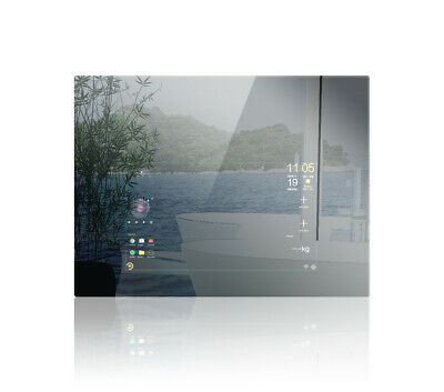 "Mues-Tec Smart Mirror 80x60cm | Touchscreen 23,6""/60cm  WLAN Bluetooth Android"