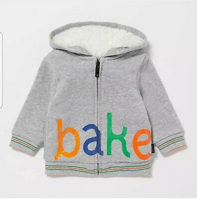 Ted Baker-Boys' Grey Borg Lined Sweater 9-12 Months
