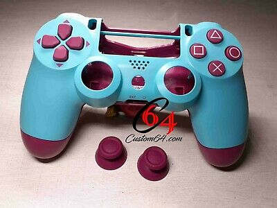Coque Manette PS4 officiel sony Berry Blue + boutons