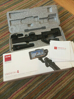 Zhiyun Smooth 4 3-Axis Handheld Gimbal Stabilizer - Black SMA04 New Opened Box