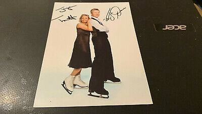 Jayne Torvill+Christopher Dean--Dancing On Ice -7X5--Original-Autographed Photo
