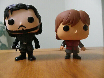 2 Funko Pop Game Of Thrones Figures Jon Snow and Tyrion Lannister - No Box