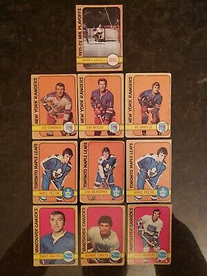 1972-73 O-pee-chee Vintage OPC hockey lot of 10 cards