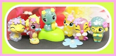 ❤️6 Hatchimals Colleggtibles Spring Flower Basket Easter Ponette Snailtail Lot❤️