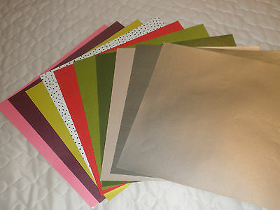 """10 Craft Paper In Several Colours 12"""" Square.brand New"""