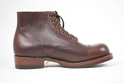 Julian Boots, Handmade, Tommy Boot, Antique Marine Dark Brown, Limited Edition