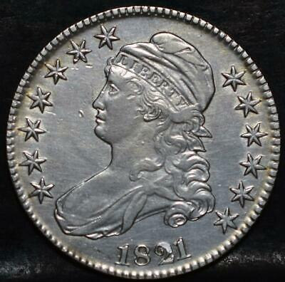 1821 Capped Bust Half Dollar Id#Hh131