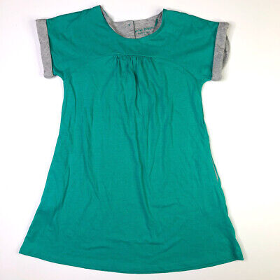 Mini Boden Girls Teal Gray Knit Dress With Pockets 7-8