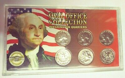 1964-1980 US George Washington Quarter Oval Office Collection 1 Silver