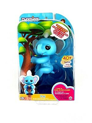 NEW Fingerlings Baby Elephant - Gray (Blue) Interactive Toy