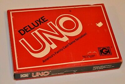 Vintage IGI UNO Deluxe Card Game 1978 with Score Pad & Card Holder