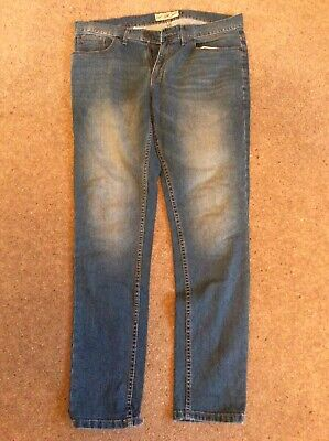Next Mens Skinny Fit Jeans 34R stonewashed blue