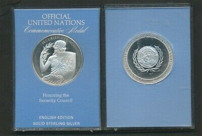 United Nations: 1977 Security Council Large Proof Silver Medal, 20.65g Cased
