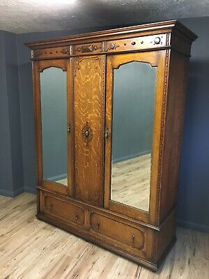Quality Antique Oak Fitted Wardrobe