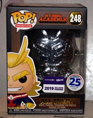 Funko Pop My Hero Academia Silver Chrome All Might Funimation Exclusive