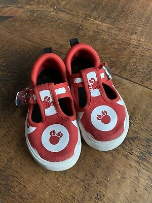 Girls Clarks Minnie Mouse Canvas Shoes Size 5F City Polka T