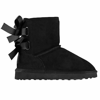 SoulCal Bodie Snug Boots Childs Girls Black Shoes Boot Kids Footwear