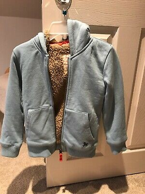 Boys Mini Boden Fleece Hoodie aged 4-5 Years Pale Blue Perfect Condition