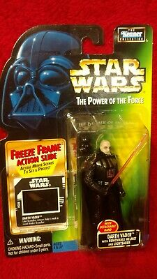 Star Wars POTF2 Darth Vader Removable Helmet COL 3 .00 Freeze Frame SEALED NEW