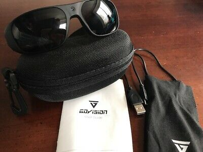 GoVISION HD Video Recording And Photo Sunglasses 1280p X 720p Black 8Gb SD Card