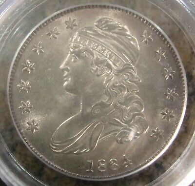 1834 Capped Bust Half Dollar - Blast White - PCGS MS-63 - Sml Date, Sml Letters