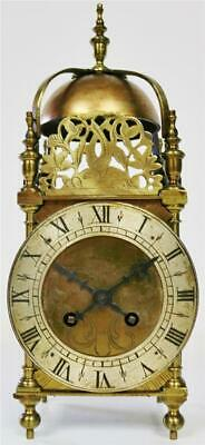 Beautiful Quality Antique Brass French Top Bell Striking Lantern Mantle Clock