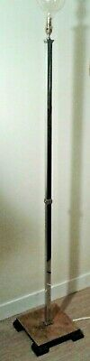 Original Antique Early 20th Century Art Deco Chrome Standard Floor Lamp