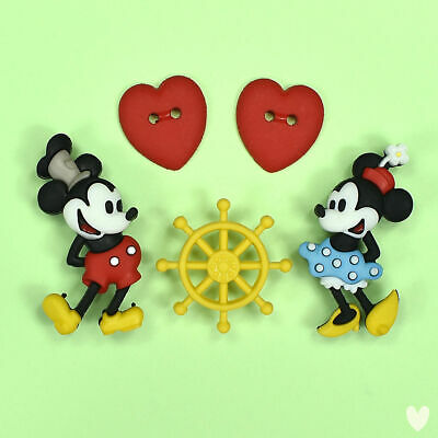 DISNEY Steamboat Willie Mickey Minnie Mouse 10402 Dress It Up Buttons