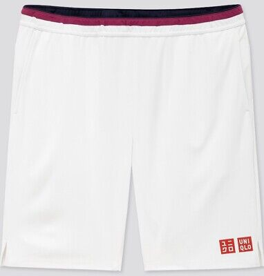 Uniqlo Size Small Roger Federer White Tennis Shorts BNWT Australian Open 2020