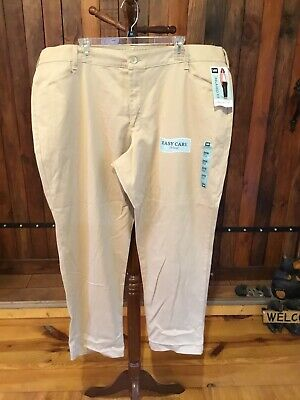 Lee Women's Pants Stretch Chinos Relaxed Fit Straight Leg Size 24 Medium NWT