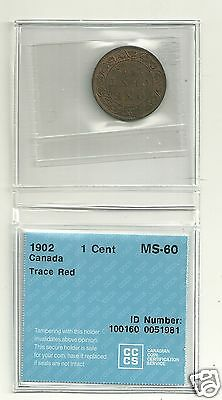 1902 Canada  Large Cent MS-60 CCCS