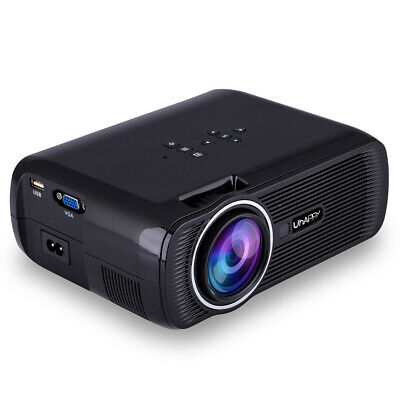 HD Projector 1080P LED Mini Projector 3000 Lumens Portable Home Theater Video Pr
