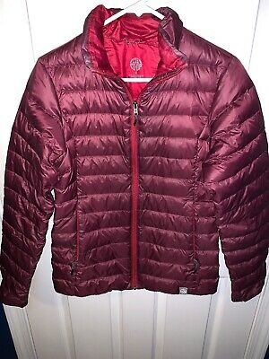 REI CO-OP Full Zip Burgundy WINTER JACKET Warm Puffer Coat Sz Women's SM