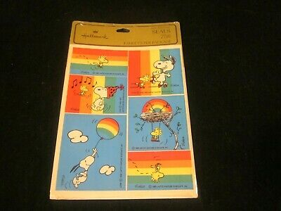 Peanuts Snoopy Woodstock Puffy Stickers Seals Musical Notes