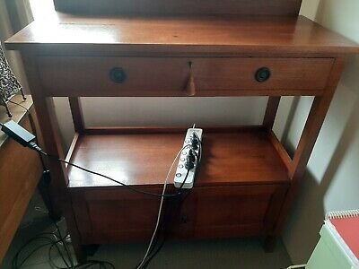TRITTON Handcrafted Silky Oak Dumb Waiter in Great Condition