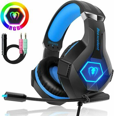 Cuffie Gaming PS4 PC Xbox One con Microfono e Switch LED RGB PS3 Mac da Gioco
