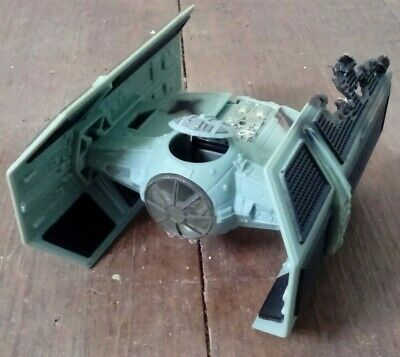 Vintage 1996 Star Wars Micro Machines Action Darth Vader's Tie Fighter DAMAGED V