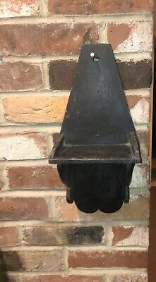 Early Antique Primitive Hanging Wooden Candle Shelve Square Nail AAFA