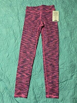 90 degree by Reflex Girls 12 Athletic Pink Purple Silver Yoga Pants leggings New