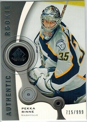 2005-06 SP Game Used Edition Authentic Rookie PEKKA RINNE ROOKIE RC #715/999