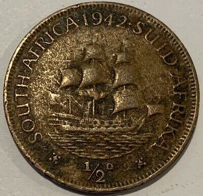 1942 South Africa 1/2 Half Penny - Suid Africa Coin