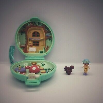 POLLY POCKET 1992 Jeweled Jewelled Forest w/ Squirrel Complete set