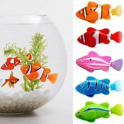 Cat Toy Swim Electronic Fish Tank Battery Powered Interactive Toys Robotic Pet