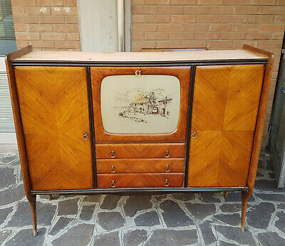 Credenza highboard cabinet bar in palissandro anni '50 mid century vintage