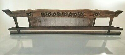 Old Antique Primitive Rustic Hand Carved Wooden Loom Reed For Weaving Tapestry